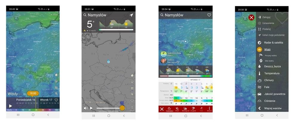 Windy - aplikacja do kampera